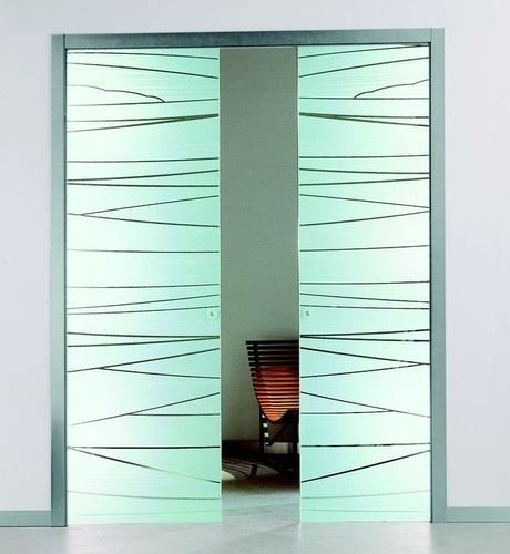 Etched Glass Pocket Sliding Door Beautiful Home Pinterest