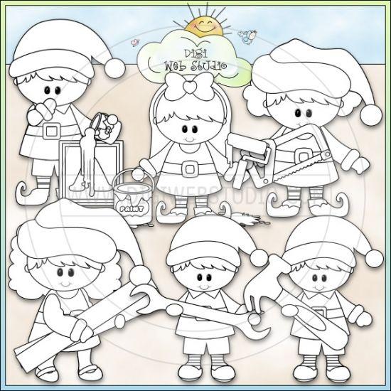 santas workshop coloring pages - photo#31
