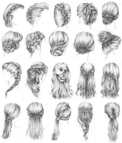 Hairstyle Refs : hair styles Figure drawing & reference Pinterest
