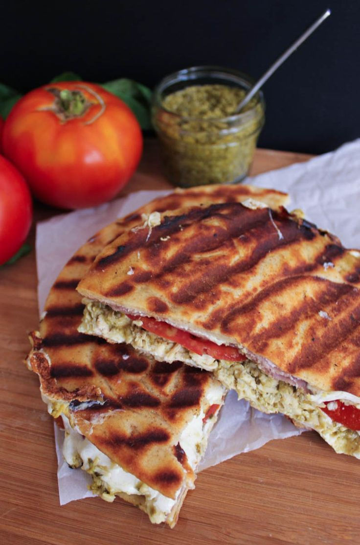 Cheesy Pesto Chicken Panini with Prosciutto and Tomatoes | Recipe