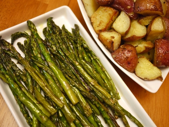 Roasted asparagus and new potatoes | Vegetables & Side Dishes | Pinte ...