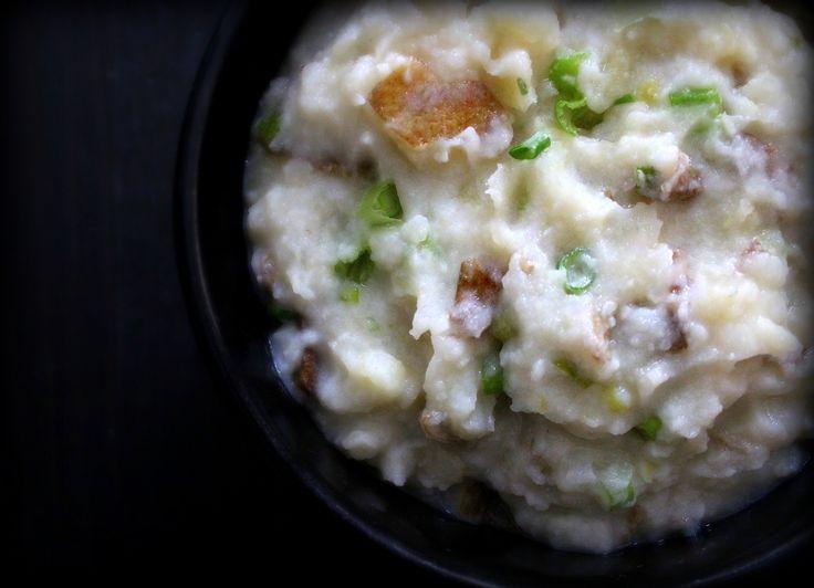 Skin-ny Scallion Mashed Potatoes | Vegetarian/Meatless | Pinterest