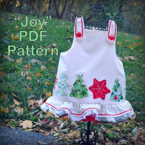 Girl christmas dress sewing pattern baby toddler sizes 6 months 6