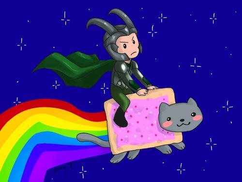 Loki and Nyan Cat!