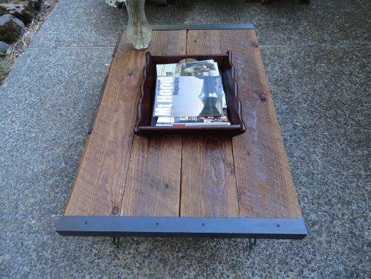 Industrial Coffee Table Live Edge Wood Coffee Table