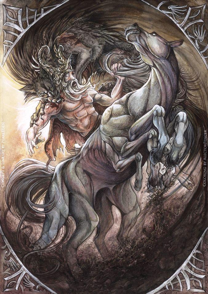 Odin+Norse+God Odin and Sleipnir | Norse mythology | Pinterest Viking Gods Family Tree