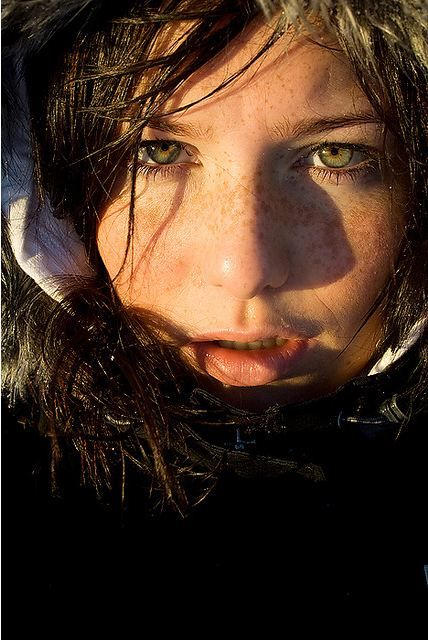 A girl from Iceland. Nice expression.