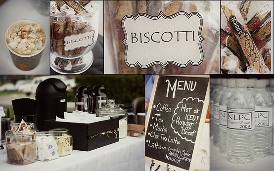 Coffee bar aleasha and travis pinterest for Coffee bar at wedding reception