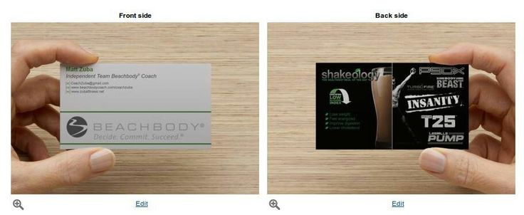 New business cards Beachbody
