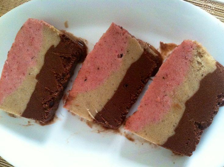 Neapolitan Banana Ice Cream Cake. | Vegan Recipes | Pinterest