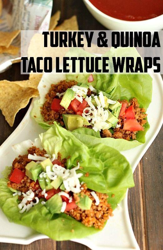 Turkey & Quinoa Taco Lettuce Wraps | Recipe