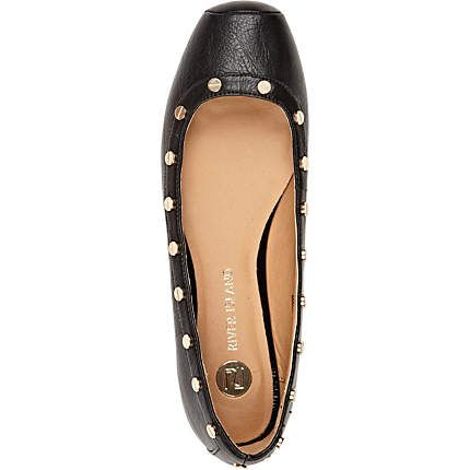 Black studded ballet pumps - ballet pumps - shoes / boots - women