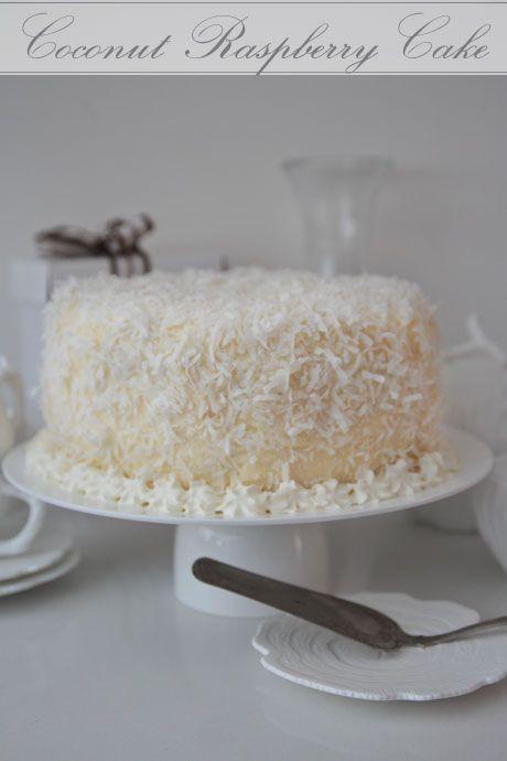 raspberry coconut cake | Delish | Pinterest