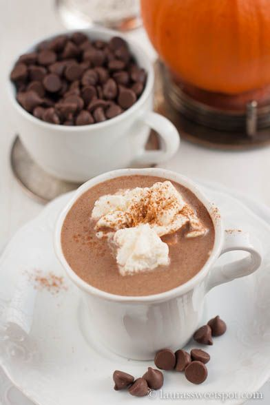 PUMPKIN hot chocolate! A delicious way to use up your leftover canned ...