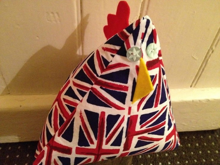 Meet Corrine The Jubilee Inspired Funky Chicken Doorstop Made In This Fabulous Union Jack