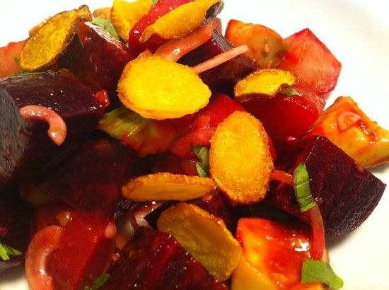 Yesterday's Tomatoes, Today's Vinaigrette: Tomato and Beet Salad - a ...