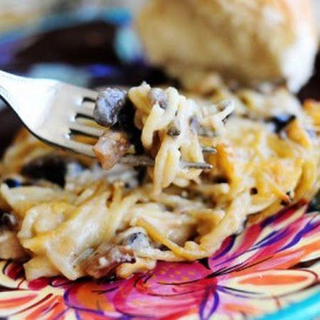 Creamy Chicken Spaghetti Casserole | yumm | Pinterest