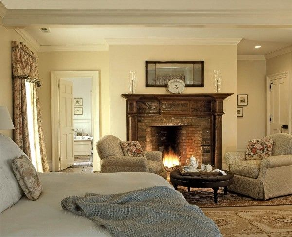 Master Bedroom Fireplace Enchanting Decorating Design