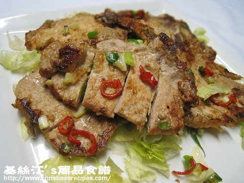 Pan-fried Pork Chops with Spicy Salt from Christine's Recipes