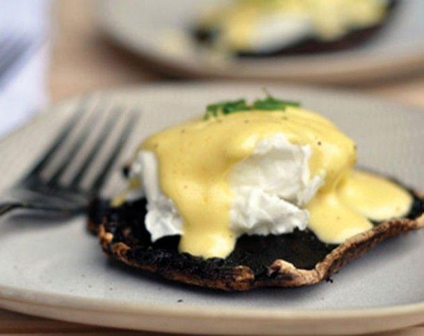 Roasted Portobello Eggs Benedict - Everything Zoomer
