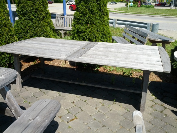 Wood Patio Table Rectangular