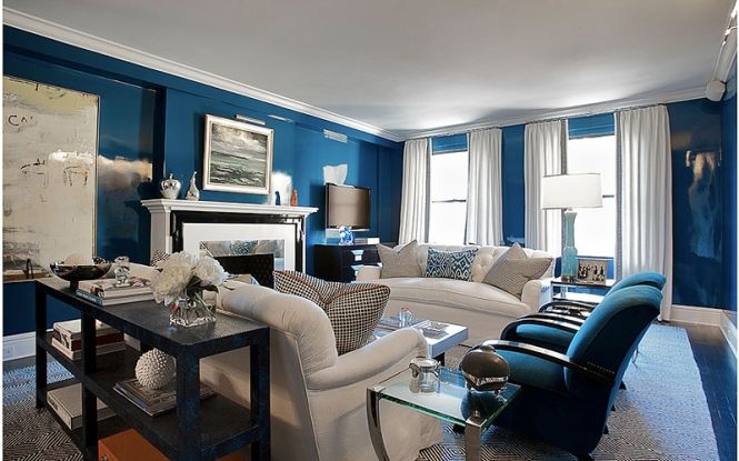 royal blue and white living room wow diy decorating