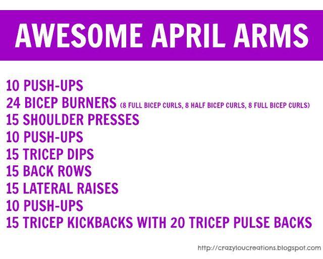 Printable Women S Arm Workout
