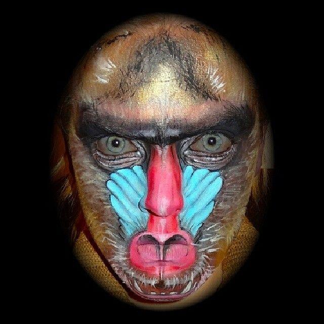 Monkey face makeup - photo#10