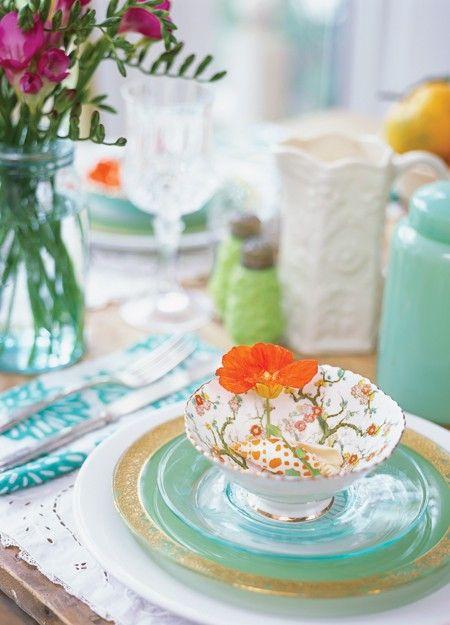 Summer tea party setting