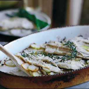 Oven Roasted Trout with Potatoes via Williams-Sonoma