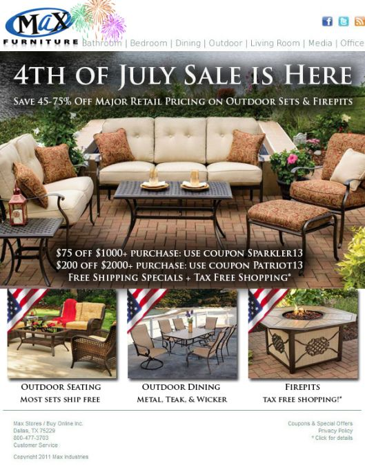 4th of july recliner sale