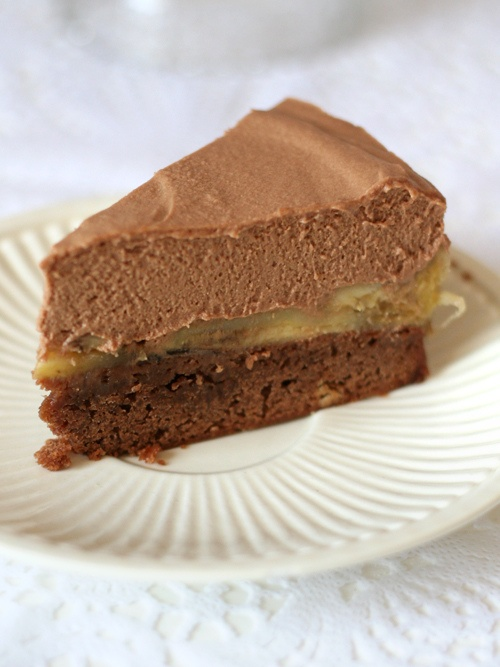 Chocolate and Peanut Butter Mousse Cake | Food | Pinterest