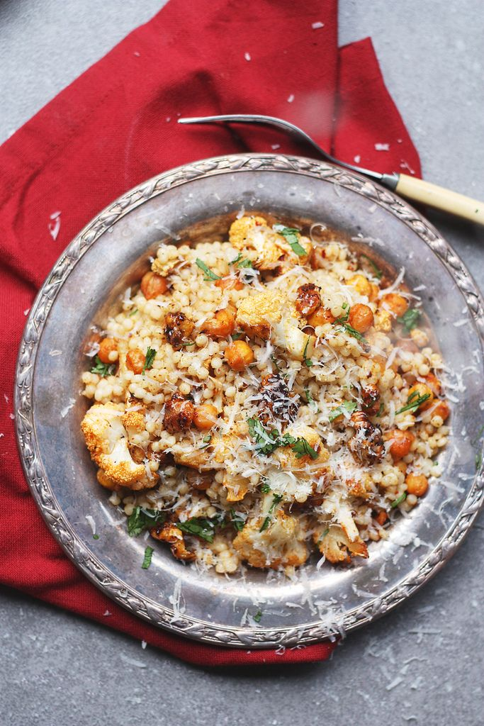 Pearl Cous Cous with Candied Walnuts and Roasted Chickpeas and ...