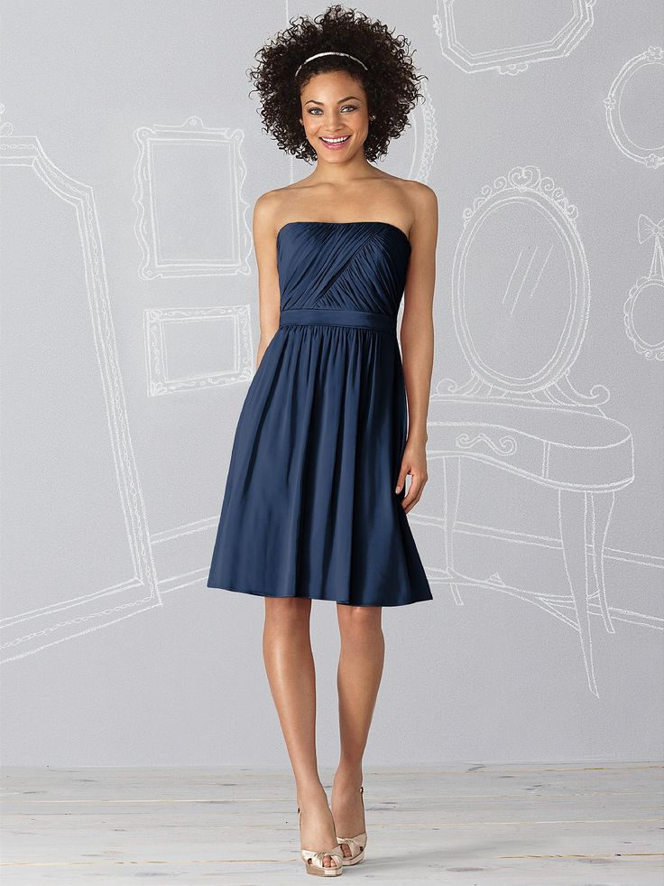 Midnight blue bridesmaid dresses ideas pinterest for Midnight blue wedding dress