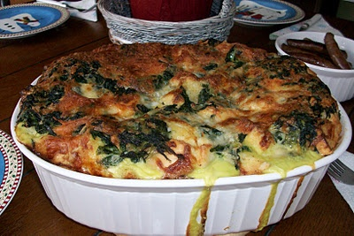 Spinach and Cheese Strata | Yums | Pinterest