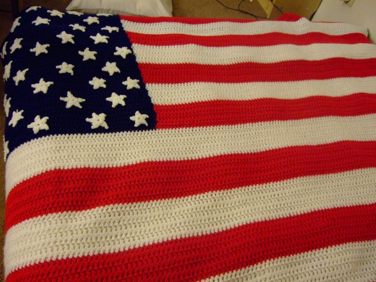 American Flag Afghan Crocheted Afghans Patterns Pinterest