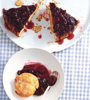 Cherry-Cornmeal Upside-Down Cake - Bon Appétit
