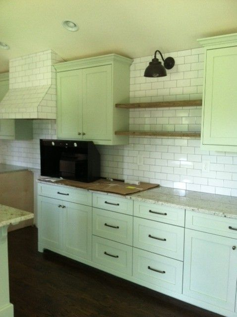 The color of the cabinets is tea light by benjamin moore for Benjamin moore tea light