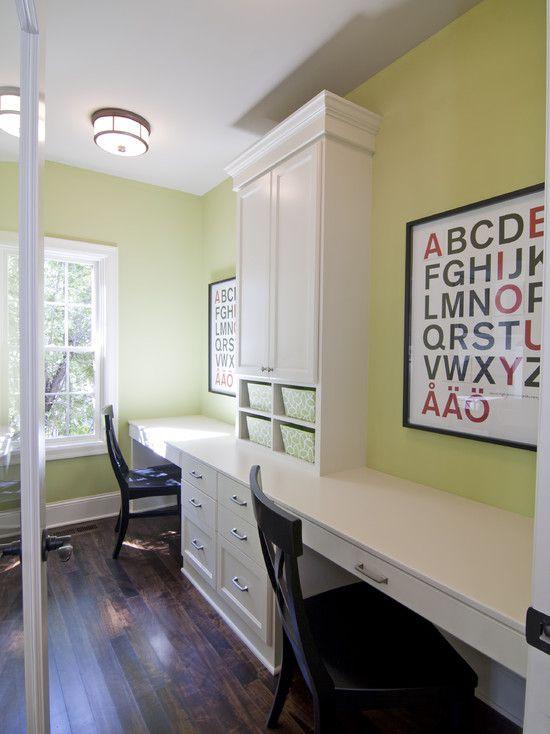 White Built In Desks Playroom Desk Ideas Pinterest