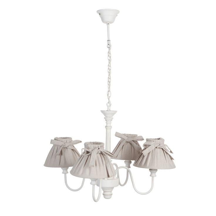 lampadario semeraro : Lampadario Leandre bianco 4 bracci Interior Design & Shabby Chic ...