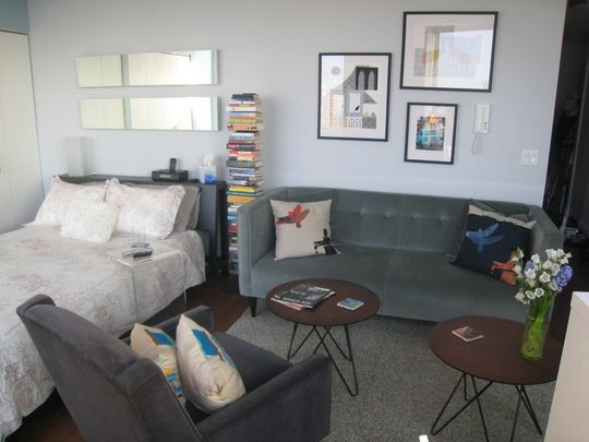 decoracao sala kitnet : decoracao sala kitnet:Small Bachelor Apartment Ideas