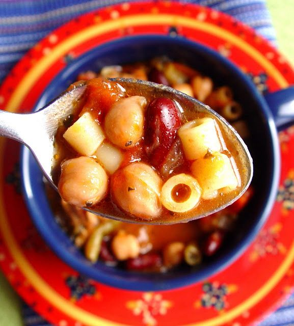 Meatball Minestrone Soup (Crock Pot) | Crock Pot Recipes | Pinterest