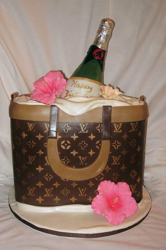 Cake Louis Vuitton Pinterest : Louis Vuitton purse cake. Party Ideas Pinterest