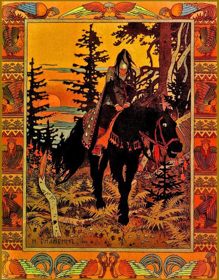 Bilibin, ART NOUVEAU illustrated Fairy Tales of a Russian Grandmother 1st/1st