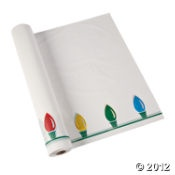 Christmas Lights Tablecloth Roll | Christmas Party | Pinterest