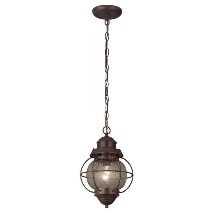 Portfolio Lodge Decor 9 In W Rustic Bronze Mini Pendant Light With Cl
