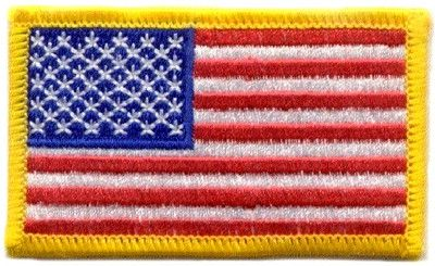 iron on american flag patches