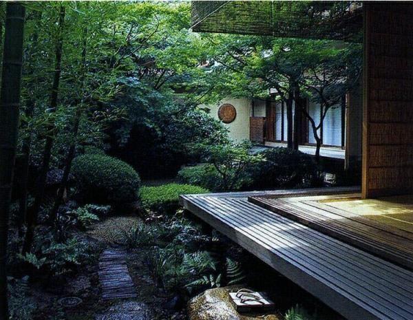 Japanese deck and garden oriental gardens pinterest for Japanese decking garden