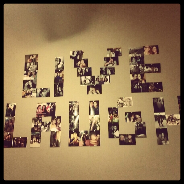 Photo collage wall decor bed room design ideas pinterest for Collage mural ideas