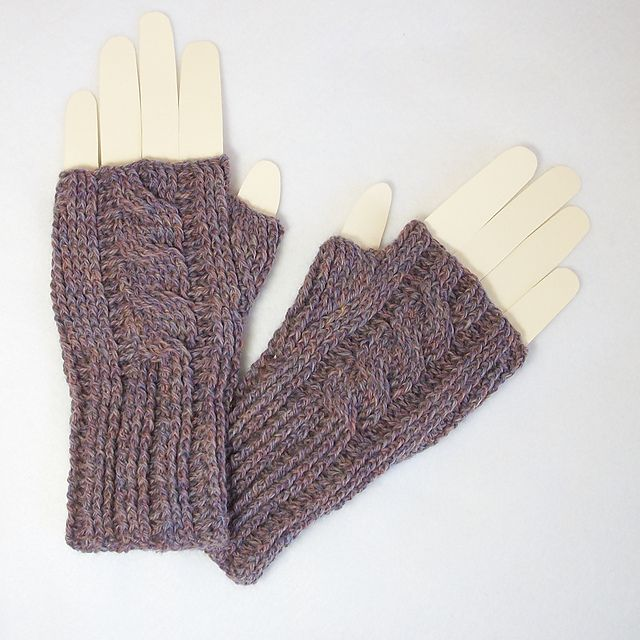 Knitting Pattern Ribbed Fingerless Gloves : Ravelry: Crochet Ribbed Cable Knit-Look Fingerless Mitts ...
